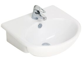 Base Semi Recessed Basin 1 Taphole 500mm White