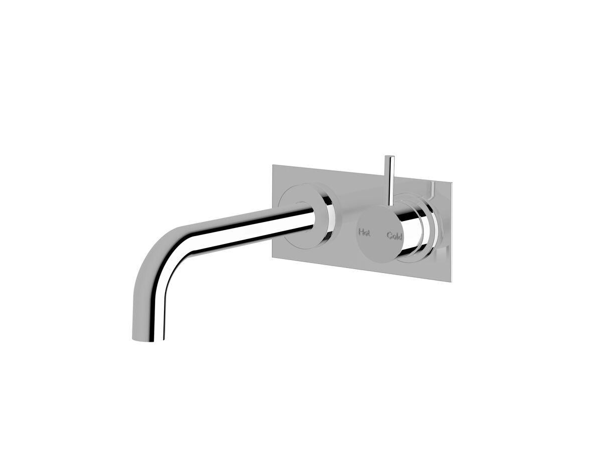 Scala 25 Curved Wall Basin / Bath Mixer System Right Hand Mixer Chrome