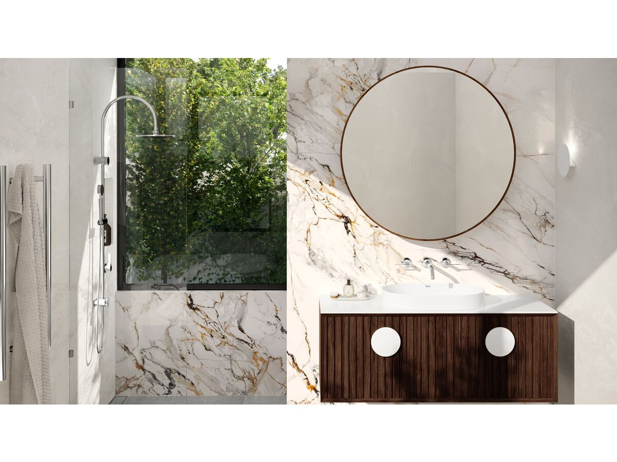 Milli Oria Bathroom Setting Chrome