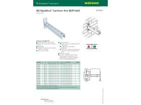 Specification Sheet - Walraven Rapidstrut Cantilever Unbraced