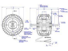 50D502-80A Twin Shaft Fan Motor 20W