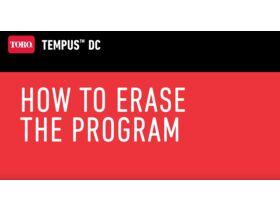 How to erase the program