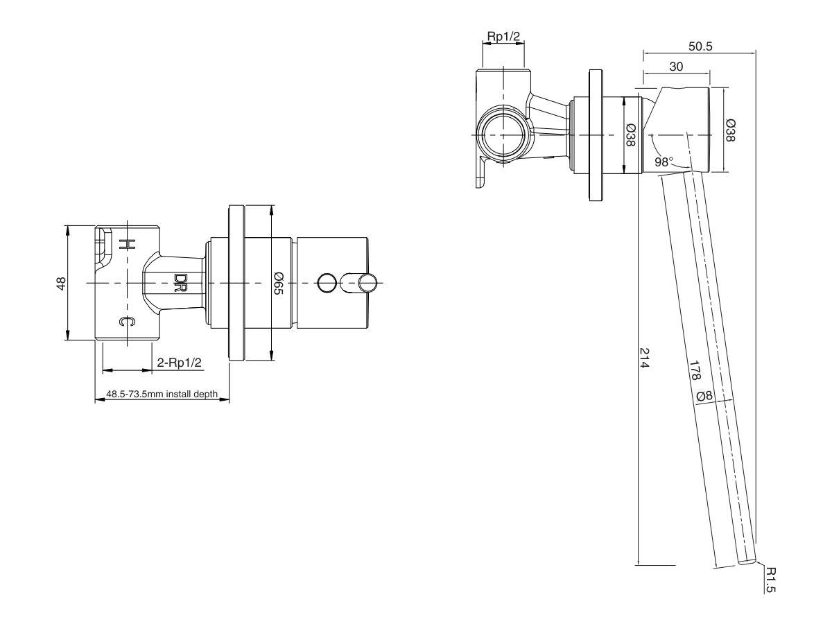 Mizu Drift MK2 Shower Mixer with Extended Lever