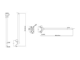Wolfen Wall Mounted Support Arm Stainless Steel