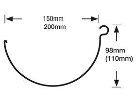 Half Round Gutter 150mm
