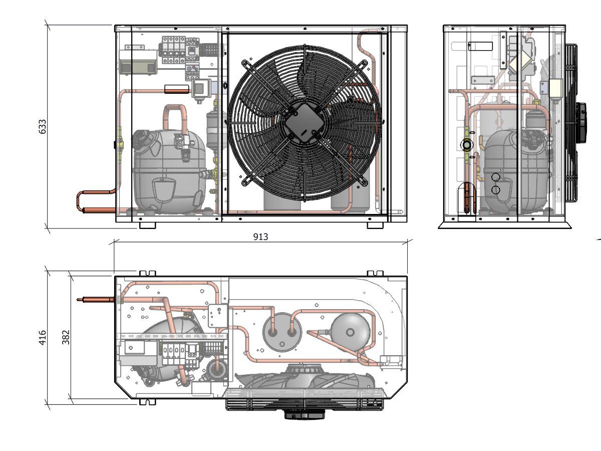 Tecumseh Compac Condensing Unit R404A PACS4519Z 1 Phase