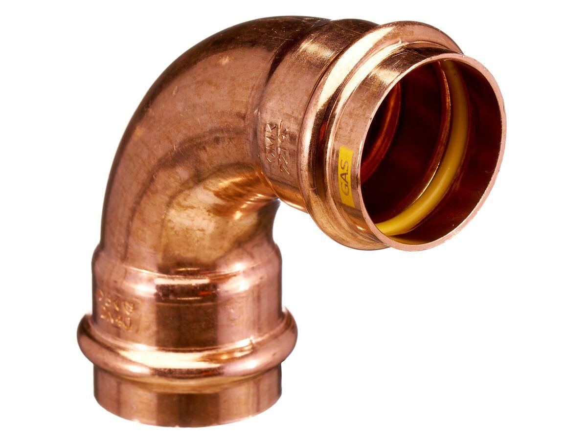 >B< Press Gas Elbow 90 Degree x 40mm
