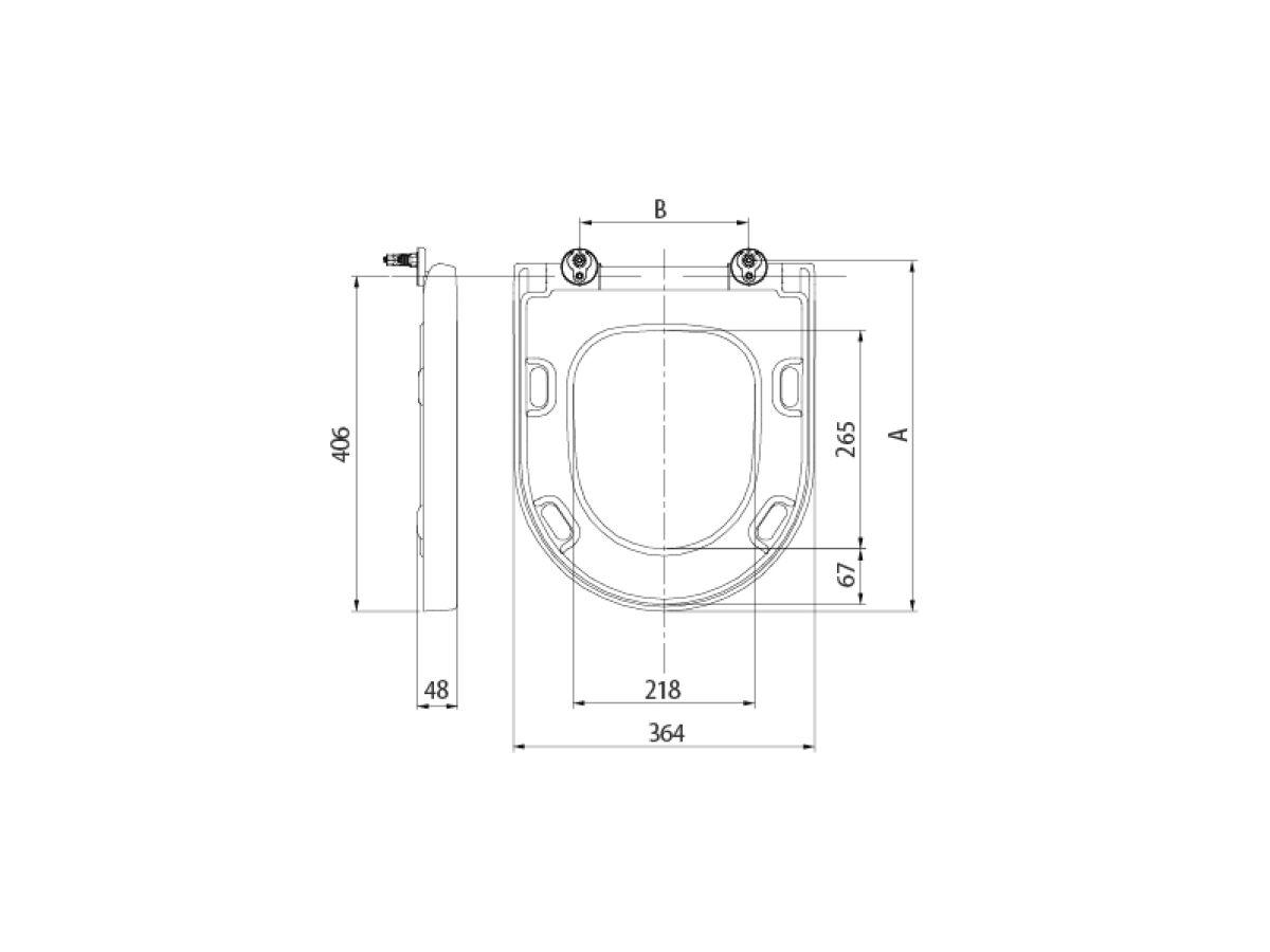 AXA Uno MK2 Soft Close Quick Release Toilet Seat White