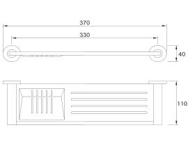 Mizu Drift Metal Shelf & Soap Dish Chrome