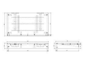 Kado Arc Basin Shelf 900mm x 500mm American Solid Oak