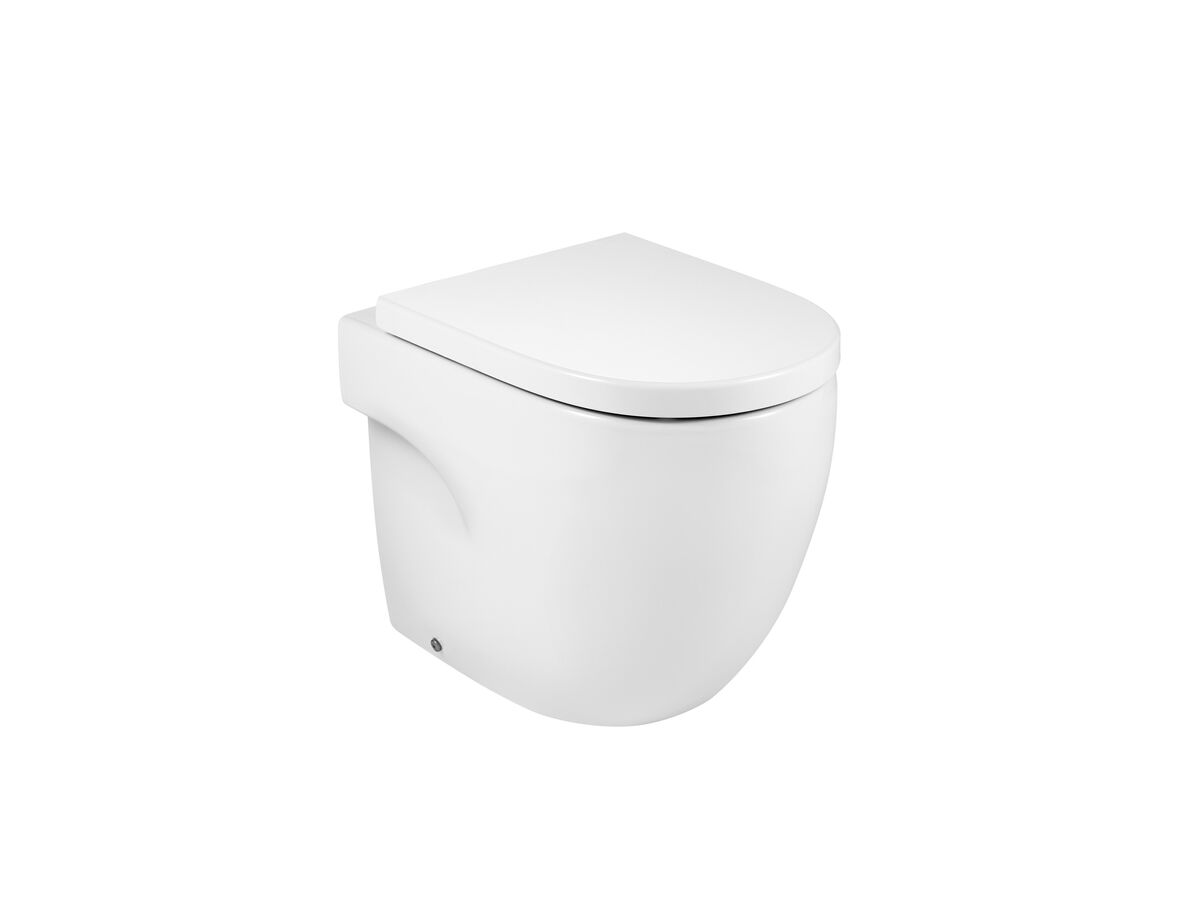 Meridian Rimless Back to Wall Pan Soft Close Quick Release Seat White (4 Star)