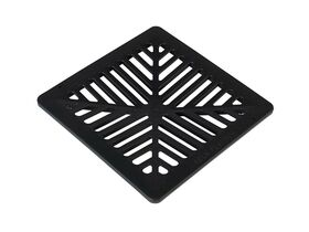 Reln 250mm Stormwater Pit Grate Only PVC Black