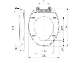 POSH Soft Close Toilet Seat and Link Kit White