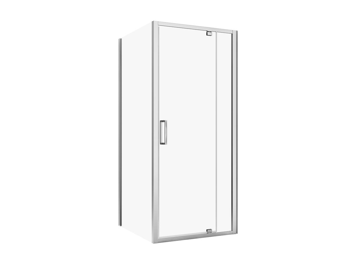 Posh Bristol Shower System with Rear Outlet 900mm x 900mm White & Chrome