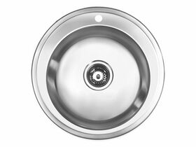 Posh Solus Round Inset / Undermount Sink Pack 1 Taphole 500mm Stainless Steel