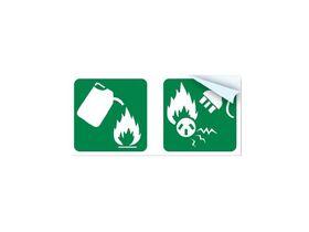 Fire Extinguisher Pictogram - 4.5-9.0kg BE, 2-5kg CO2