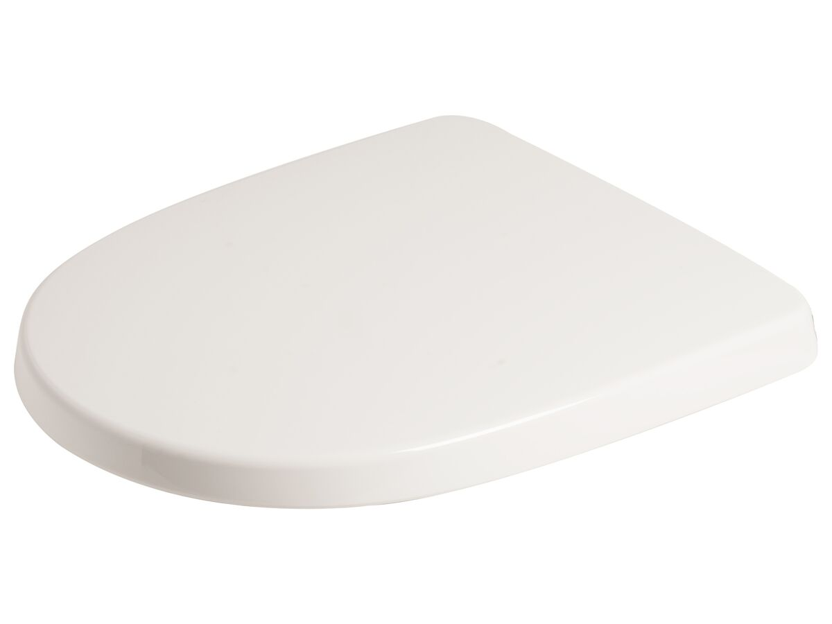 American Standard Cygnet Soft Close Quick Release Toilet Seat (Suit Overheight Close Coupled Back to Wall) White