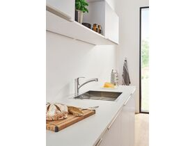 GROHE Eurosmart New Pull Out Sink Mixer Tap Chrome (4 Star)