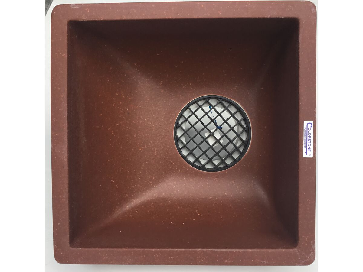 Colorstone Polymer Gully Domestic Sink - Brown