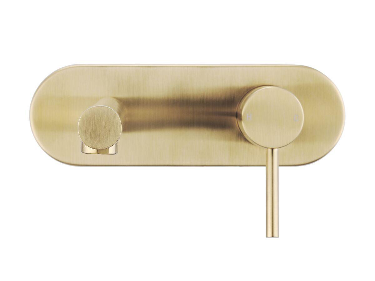 Mizu Drift MK2 Wall Basin Mixer Tap Set Brushed Gold (4 Star)