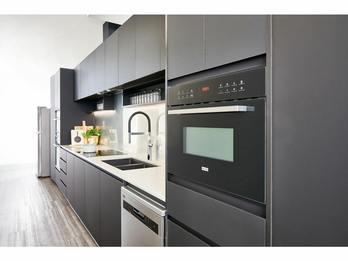 Franke Designer Built In Drop Down Microwave Black