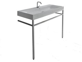 AXA Cento Wall Basin with Fixing 1 Taphole 1200mm White