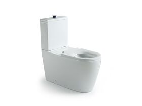 Wolfen Close Coupled Back to Wall Toilet Suite with Single Flap Seat 800mm White (4 Star)