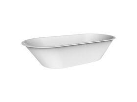 Posh Solus Oval Inset Bath White 1675mm x 780mm White