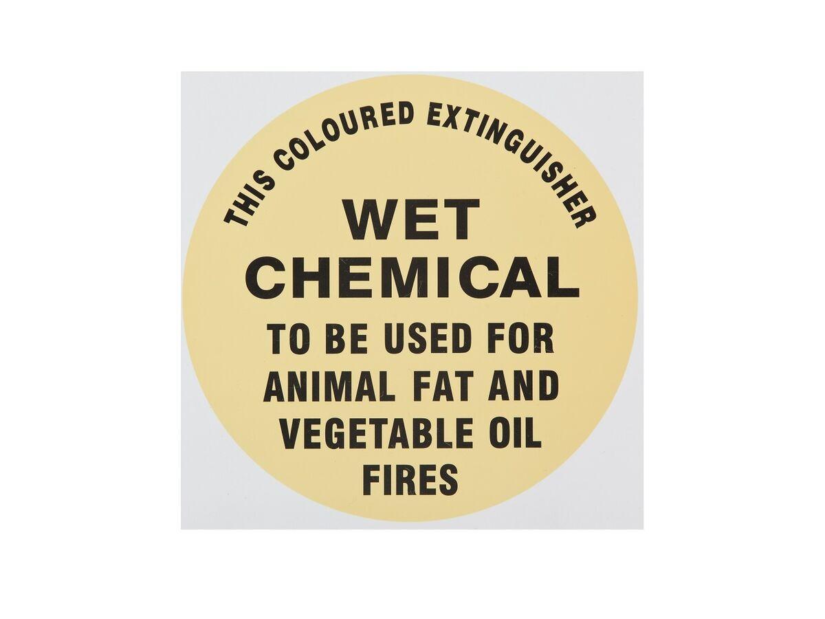 Instruction Signs WET CHEM - Metal