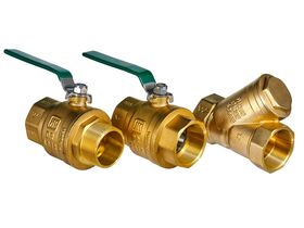 Wilkins Backflow Reduced Pressure Zone with Ball Valve 50mm Y Strainer