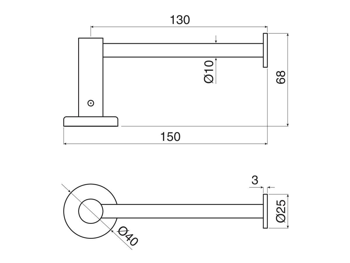 Mizu Drift Straight Toilet Roll Holder