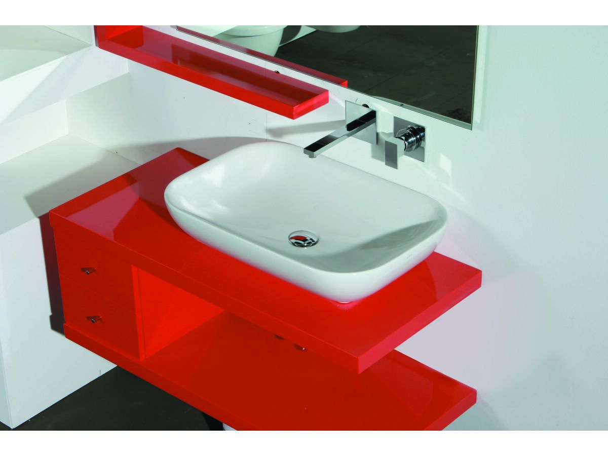 AXA Uno Above Counter Basin No Taphole 700mm White
