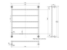 Mizu Drift Heated Towel Rail 850 x 760mm Polished Stainless Steel