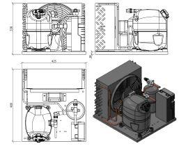 Tecumseh Condensing Unit R404A CAJT9480ZMHR -FZ-S 5/8 HP