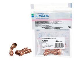">B< Maxipro Elbow 45 Degree x 3/8"" Bag of 3"""