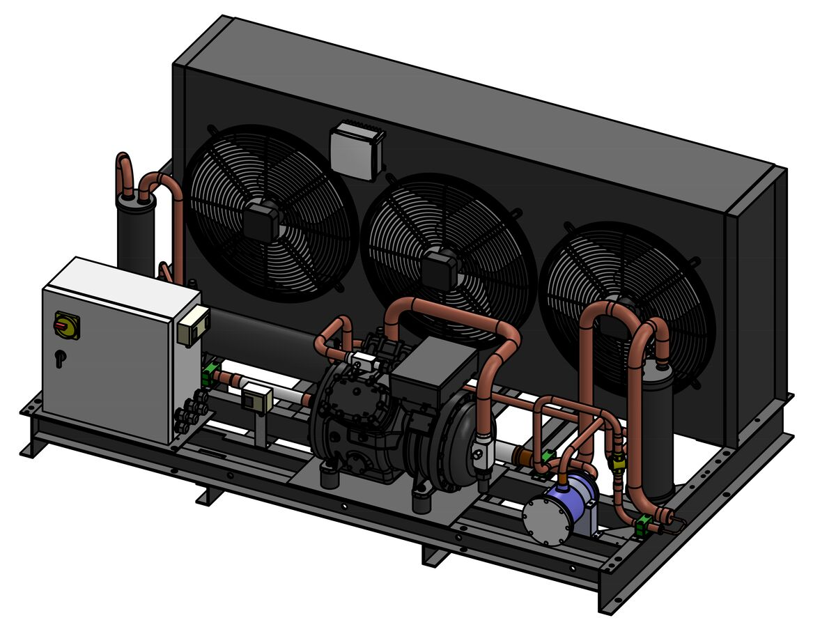 Tecumseh Semi Hermetic EVO Condensing Unit SHT4615ZHR 3 Phase