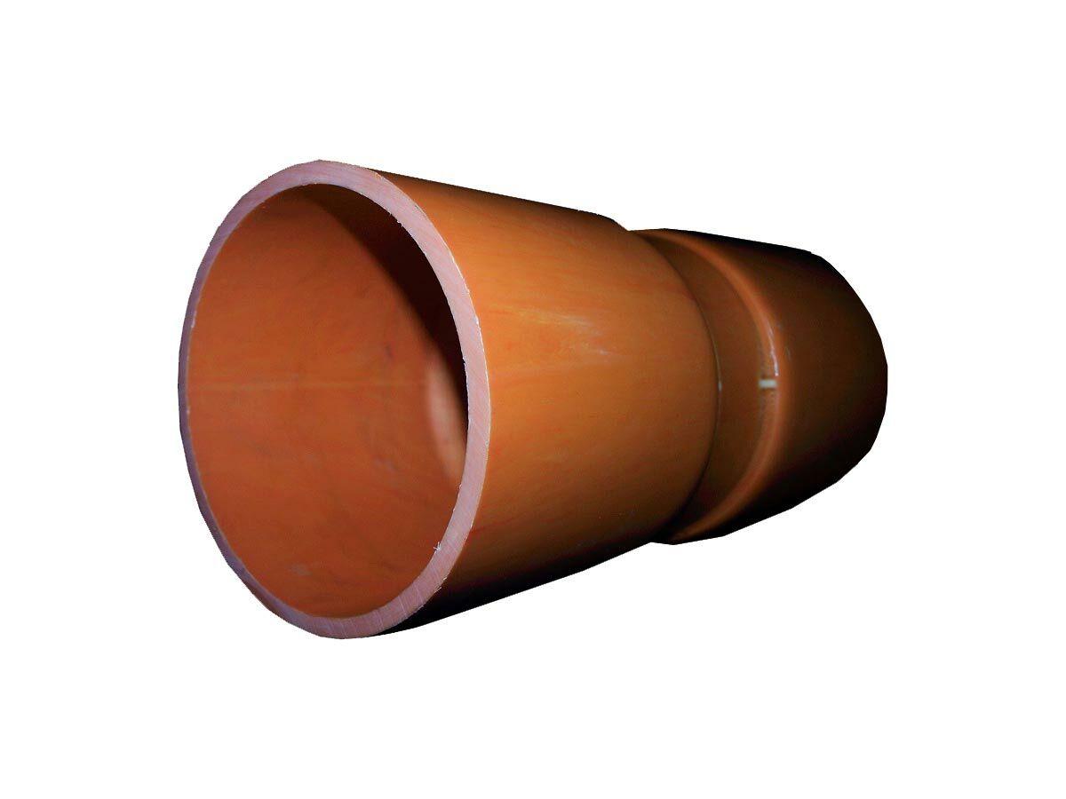 Orange Heavy Duty Conduit Coupling 150mm