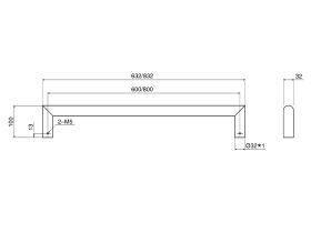 Mizu Drift Heated Towel Rail (Each)