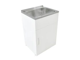 Posh Domaine Trough & Cabinet 45L with Bypass 2 Taphole Stainless Steel
