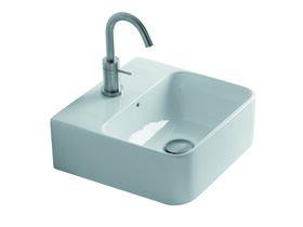 AXA Sheer Counter Basin 1 Taphole 350mm x 350mm White