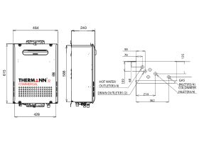 Thermann Commercial 32 External Line Drawing
