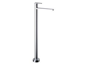 Yeva Floor Mounted Bath Mixer with Fixed Outlet Chrome