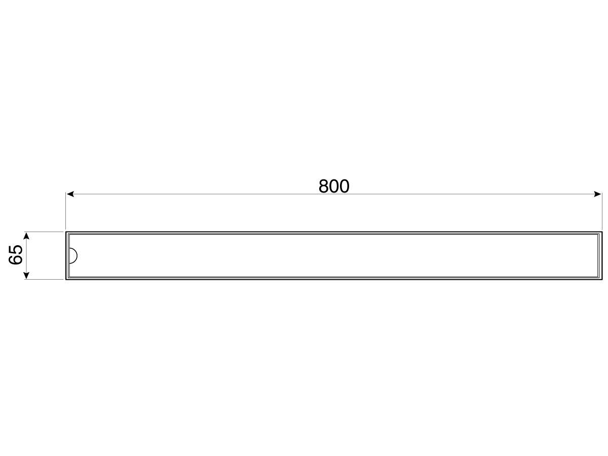 Veitch RX65 Shower Channel 800mm (Swan)