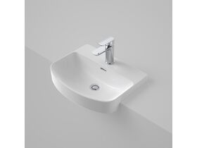 Caroma Forma Semi Recess Basin 1 Taphole with Overflow