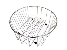 Posh Solus Round Sink Wire Basket Stainless Steel