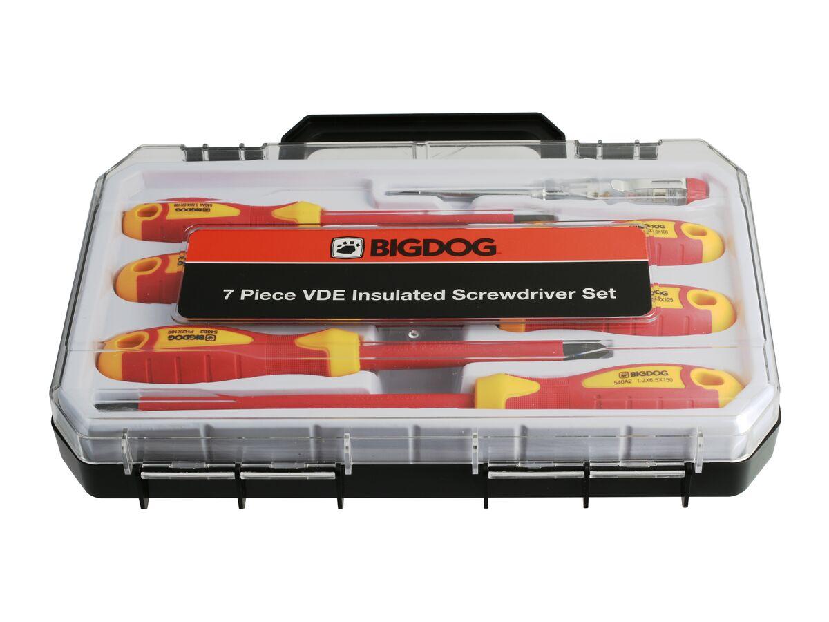 Bigdog VDE Screwdriver Set 7 Piece