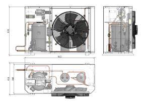 Tecumseh Compac Condensing Unit R404A PACS4524Z 1 Phase