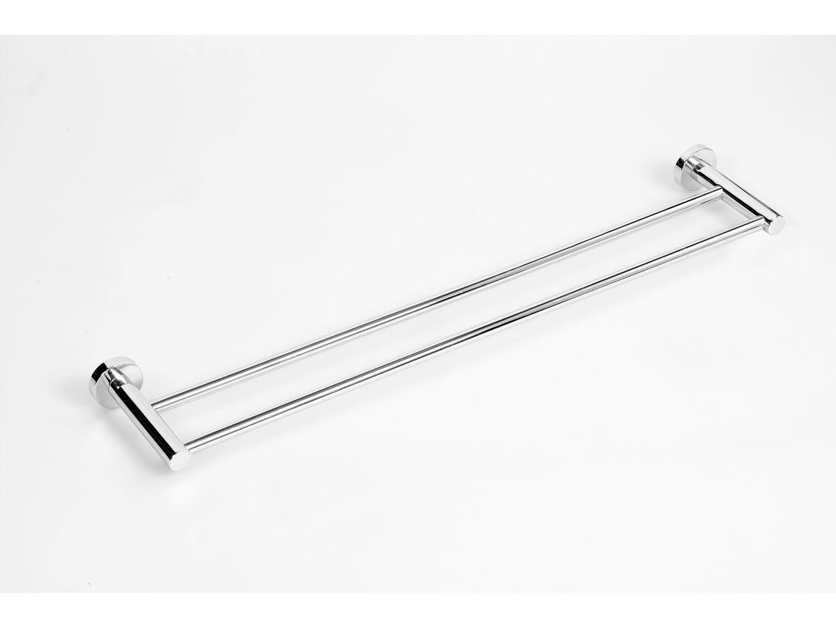 Posh Solus MK2 Double Towel Rail 750mm Chrome