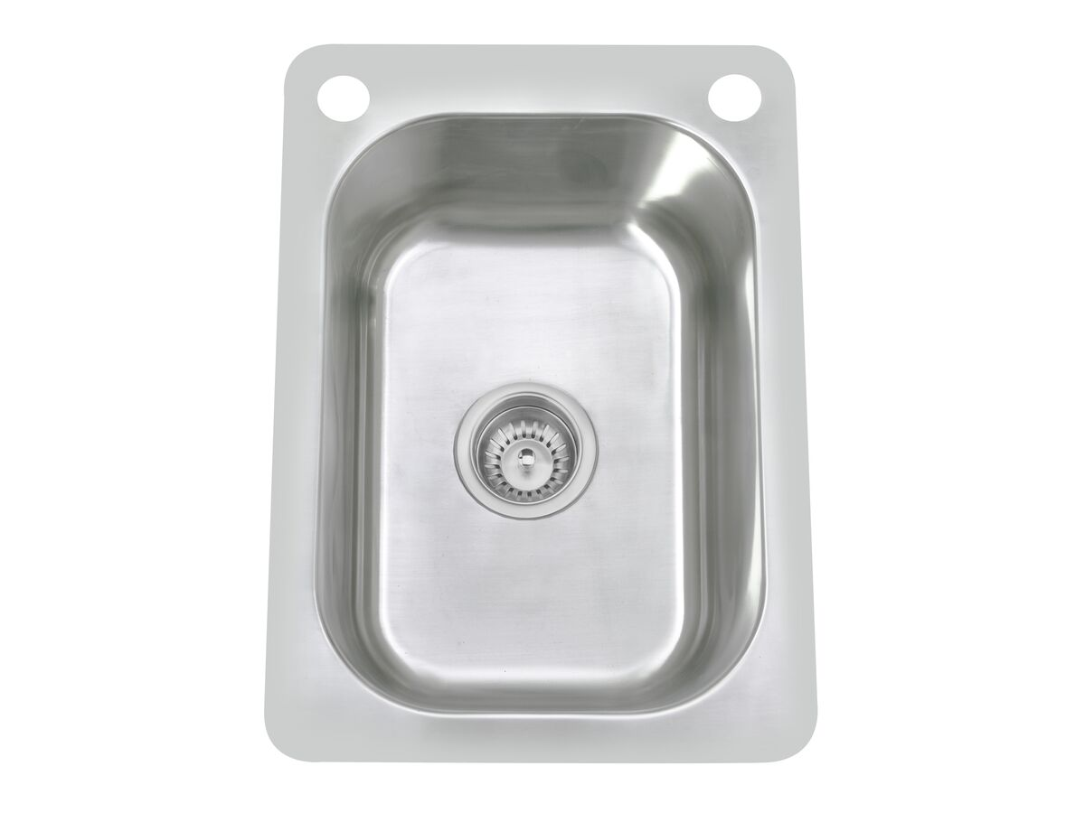 Posh Domaine Trough 27L with Bypass 2 Taphole Stainless Steel
