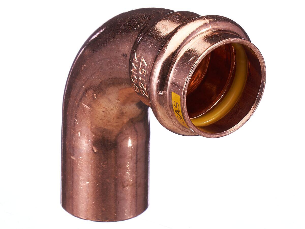 >B< Press Gas Elbow Male & Female 90 Degree x 25mm